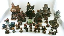 Boyd's Town Village Lot of Buildings and Figures - 30 Piece Lot