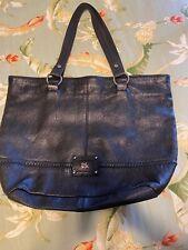 The Sak Black Leather Tote Bag