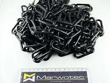 25m Absperrkette Kunststoff 6mm Schwarz Warnkette Plastikkette Kunststoffkette