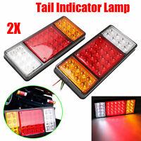 2X 12V Rear Stop 36 LED Lights Tail Brake Indicator Lamp Trailer Truck Van Light