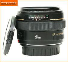 Canon EF 50mm F1.4 Lente de enfoque automático rápido Prime USM + GRATIS UK FRANQUEO
