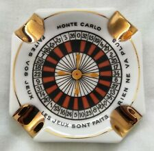 Beautiful Limoges Monte Carlo Casino Roulette Ashtray