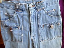 28x36 True Vtg 70's Mens ULTIMATE bellbottom H.I.S. DENIM BOOTCUT HIPPIE JEANS