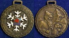 Medaglia San Bernardo Protettore  Montagna Passo di Falzarego con smalti #317
