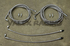 Complete Stainless Rear Brake Line Replacement Kit 01-05 Honda Civic EM2 W/O ABS