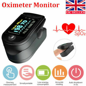 Fingertip Pulse Oximeter Monitor Blood Oxygen Saturation Heartbeat PI Oxymeter