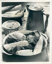 1970 Mexican Short Ribs of Beef Corn on The Cob Cooked in Coffee Press Photo