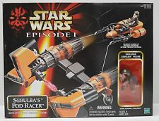 Star Wars Episode I Sebulba's Pod Racer Vehicle + Action Figure NIP Hasbro 1998
