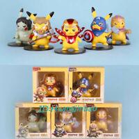 Pikachu Cos The Avenger Hero Figure Iron Man Hulk PVC Model In Stock New