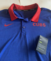 Chicago Cubs Nike Men's Dri-Fit Golf Polo Shirt New Blue M L XXL 2XL NWT MLB $60