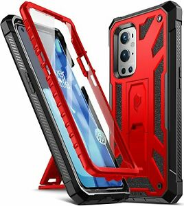 OnePlus 9 Pro 5G Cell Phone Case Poetic® Armor Kickstand Shockproof Cover Red