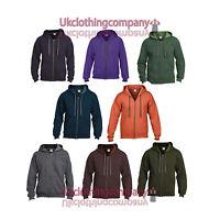 Gildan Heavy Blend Men's Vintage Full Zip Hooded Sweat - Adult Zipped Hoodie