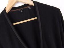 R937 TED BAKER CARDIGAN JUMPER 2-POCKETS ORIGINAL PREMIUM BLACK size 4