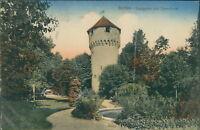 Ansichtskarte Bretten Stadtgarten und Simmelturm 1913  (Nr.9343)