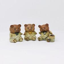 Japanese Pottery UCTCI Gempo Stoneware Three Bears Salt & Pepper Toothpick