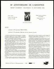 France anuncio hoja 1968 tregua Tesalónica ministro Sheet rare zb92