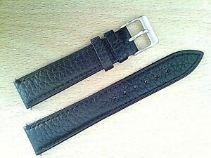 Buffalo grain leather watch strap for the Glycine Airman /vintage .
