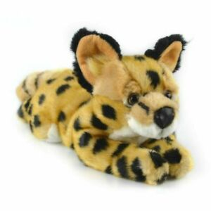 NEW PLUSH SOFT TOY Korimco Serval Cat 40cm Teddy