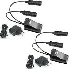 2x Ultrahelle LED Schwanenhalsleuchte Leselampe Klemmlampe incl. Netzteil + USB