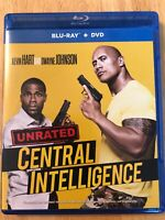 CENTRAL INTELLIGENCE (Blu-Ray/DVD 2016) Dwayne Johnson UNRATED EDITION