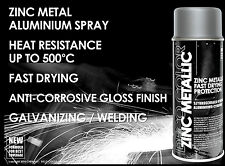 DECO COLOR ZINC METALLIC STEEL METAL ALU SPRAY PAINT HIGH GLOSS HEAT RESISTANT