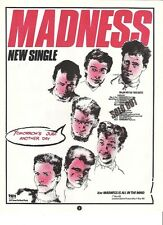 MADNESS Tomorrow's Just Another Day 1983  UK magazine ADVERT / mini Poster 11x8""