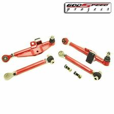GSP FITS 89-94 240SX S13 180SX RED FRONT LOWER CONTROL ARM+HIGH ANGLE HA TENSION
