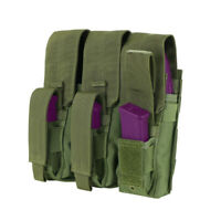 OD GREEN Triple MOLLE Tactical Military Holster Mag Pouch