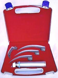 Macintosh Laryngoscope Set 4 Blades Examination Diagnostic MedicaI Instruments