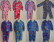 Boys & Girls Frozen Kitty Spiderman Turtle Transformers Cars Winter Pyjamas pjs