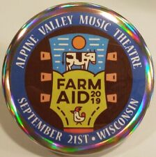 Farm Aid PIN - 2019 Concert Festival HOLOGRAM BUTTONS Willie Nelson Neil Young