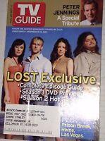 Tv Guide Magazine Peter Jennings Lost  August 28- September 3, 2005 042417nonrh