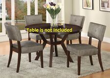 set of 6 exotic Modern Dining Chairs Cushion Seat & Back Furniture Chair