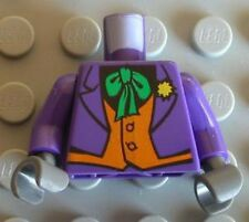 LEGO BATMAN - Minifig, Torso Purple Suit w/ Orange Vest & Green Tie, (Joker)