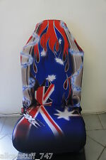 Single Airbrush style seatcover; Aussie Pride Flag, Southern cross Celtic blades
