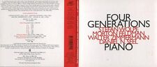 "FOUR GENERATIONS ""Piano (Wolpe, Feldman, Zimmermann, N. Seel)"" (CD Digipack)"