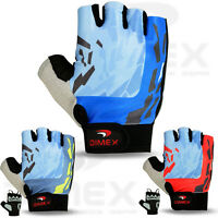 Men Cycling Gloves Bike Half Finger Bicycle Gel Padded Fingerless Sports Dimex