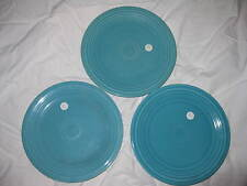 3 Homer Laughlin Company Vintage Fiesta Turquoise / Teal Plates