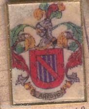 Heraldry PIN metallic del last name : BROOK