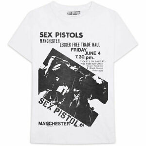 Sex Pistols: 'Live In Manchester 1976' T-Shirt *Official Merchandise*