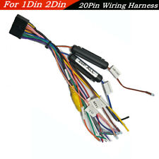 Universal 20 Pin Car SUV Wiring Harness Connector For 1Din&2Din DVD Power Cable