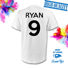 CUSTOM NAME & NUMBER IRON ON T SHIRT TRANSFER | TEAM FOOTBALL SPORTS