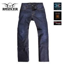 Pantaloni blu per motociclista uomo protezioni rimovibili