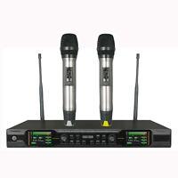 UHF True Diversity Dual Wireless Vocal Microphone System for Sennheiser Wireless