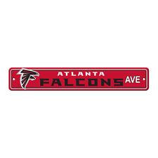 "NFL Atlanta Falcons Home Room Bar Office Decor AVE Street Sign 4"" x 24"""