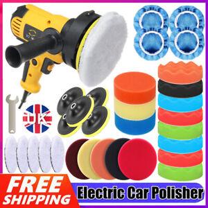 "5"" 600W Rotary Car Polisher Buffer Waxer Kit Polishing Machine Sponge Pad Bonnet"