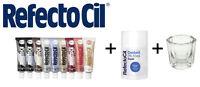 SET RefectoCil Developer 100ml+ dish+ Eyebrow& eyelash tint various colours15ML