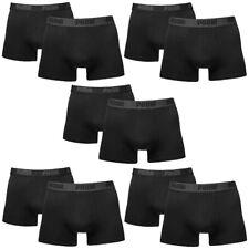 10 en Paquete Puma Bóxer shorts/Negro/tamaño XXL / ropa interior hombre