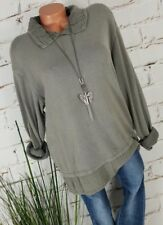 NEU ITALY VINTAGE SWEAT SHIRT PULLI DOUBLE LOOK WASHED GREY 36-42