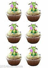 25 PRECUT BABY TV DRACO DRAGON alzarsi 3D cupcake torta Wafer Riso carta decorazioni per